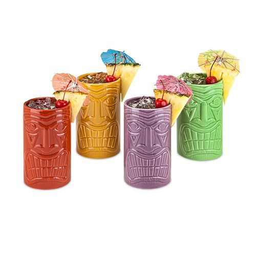 Beachcomber Tiki Mugs - Set of 4