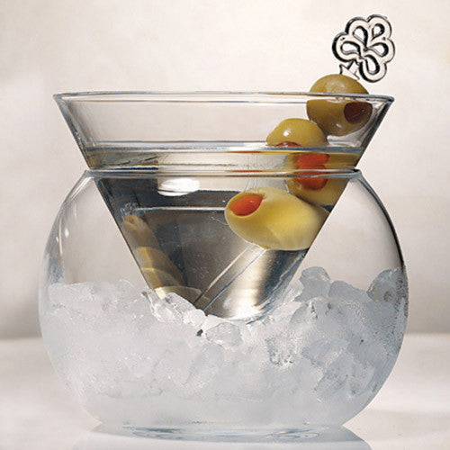 Stemless Martini Glass with Ice Bowl