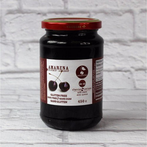 Amarena Cherries with Stem, 450 g