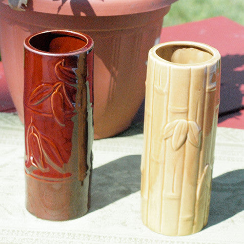 Dark Bamboo Leaves Tiki Glass