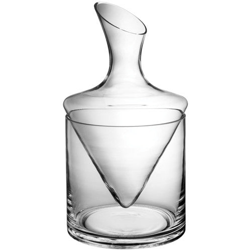 Carafe with Glass Ice Bucket