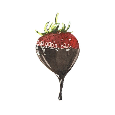 Chocolate Covered Strawberry Greeting Card - Blank