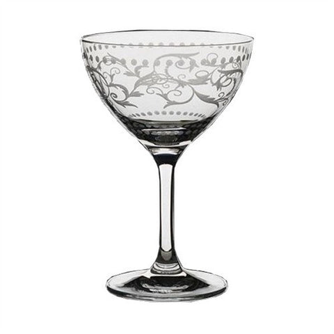 Classic Martini Saucer, Vintage Dots, 8 oz - Set of 6