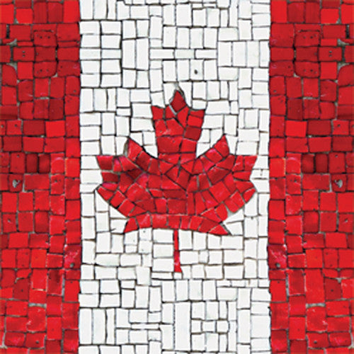 Cocktail Napkins: Canadian Flag Mosaic