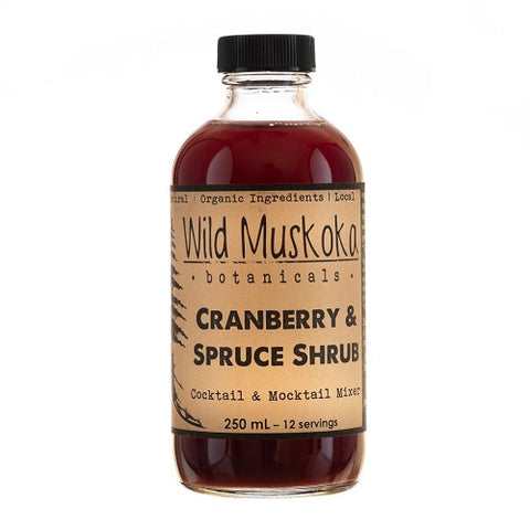 Wild Muskoka Cranberry and Spruce Shrub