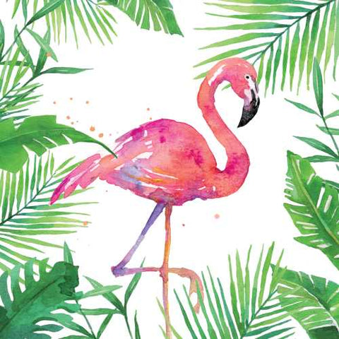 Cocktail Napkins: Tropical Flamingo