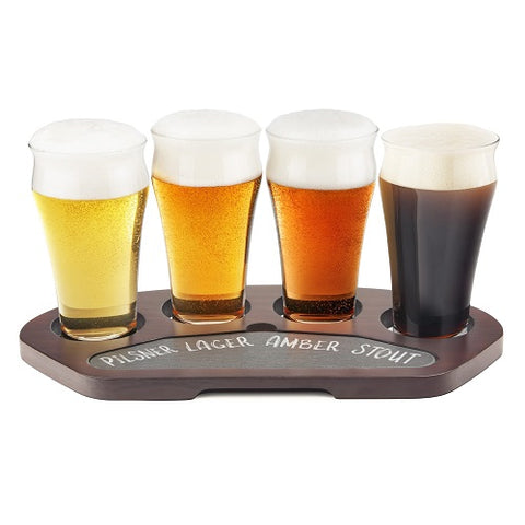 Crystal Craft Beer Flight Set