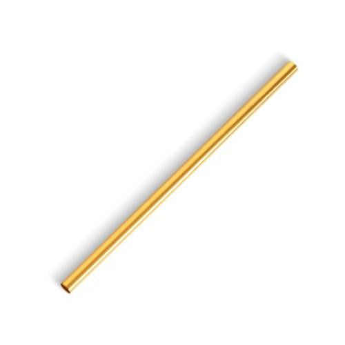 Metal Straw, Gold, 8.5 inch