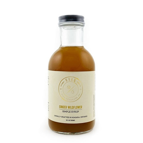 Kvas Ginger Wildflower Simple Syrup