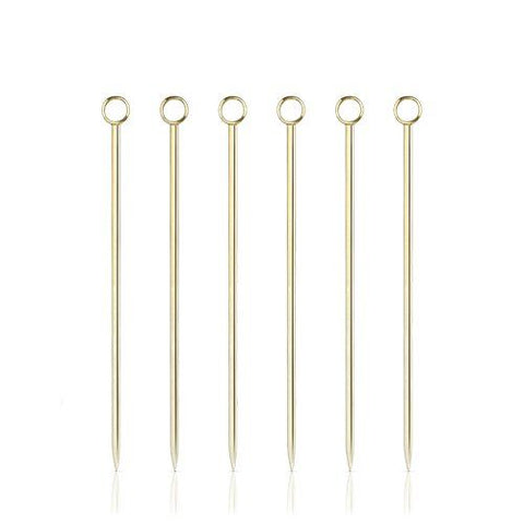 Viski Gold Cocktail Picks - Set of 6