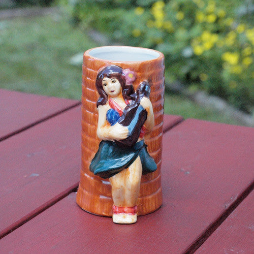 Hula Girl Tiki Glass