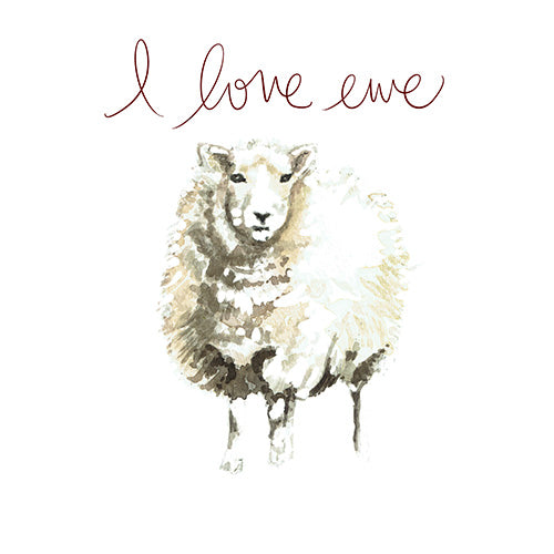 I Love Ewe Greeting Card - Blank