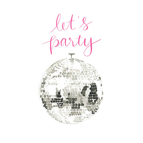 Let's Party Greeting Card - Blank