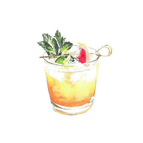 Mai Tai Greeting Card - Blank