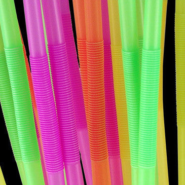 Mammoth Neon Bendy Straws, Pack of 200