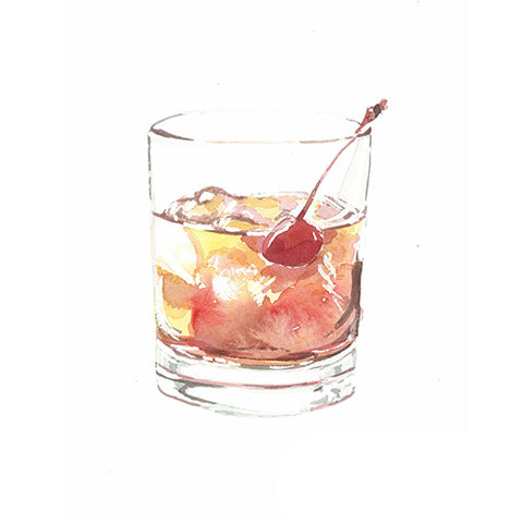Manhattan Cocktail Greeting Card - Blank