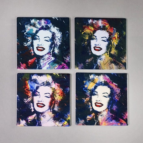 MARILYN LOOKALIKE COASTERS - Set of 4