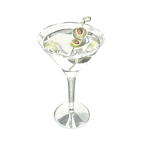 Martini Greeting Card - Blank