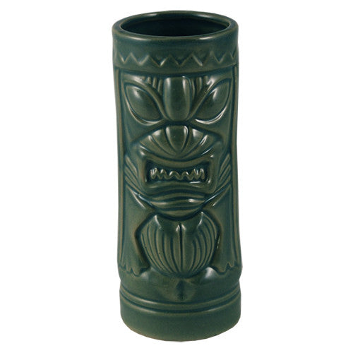 Mean Green Tiki Glass