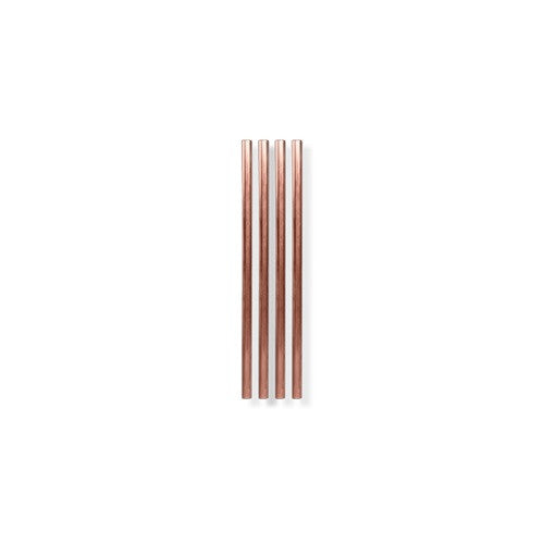 Metal Straws, Copper, 5 inch - Set of 4