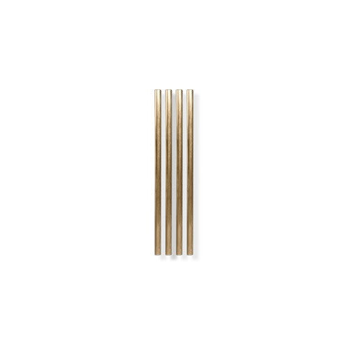 Metal Straws, Gold, 5 inch - Set of 4