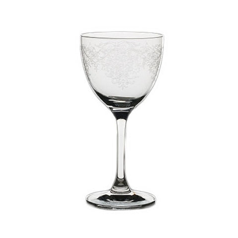 Nick and Nora Cocktail Glass, Vintage Lace - Set of 6