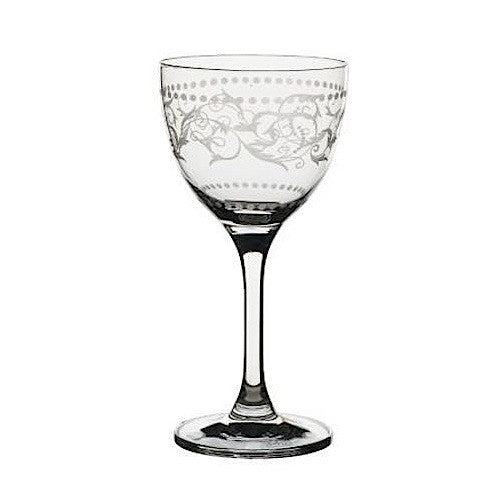 Nick and Nora Cocktail Glass, Vintage Dots - Set of 6
