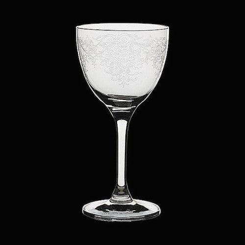 Nick and Nora Cocktail Glass, Vintage Lace, 5.5 oz