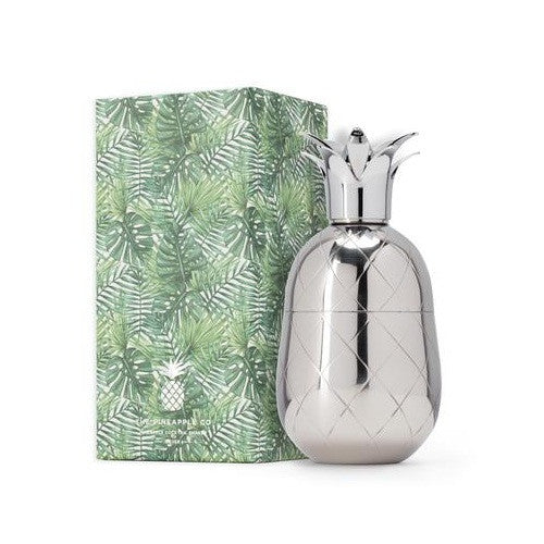 Pineapple Cocktail Shaker, Silver, 18 oz