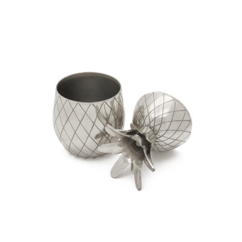 Pineapple Cocktail Tumbler, Silver, 12 oz
