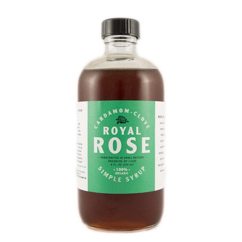 Royal Rose Cardamom-Clove Syrup, 8 oz