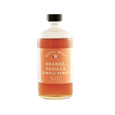 Royal Rose Orange-Vanilla Syrup, 8 oz