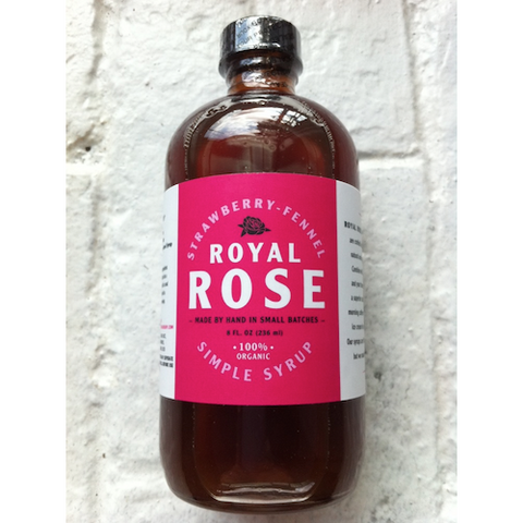Royal Rose Strawberry-Fennel Syrup, 8 oz
