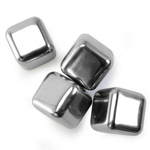Stainless Steel Ice Cubes, Set of 4