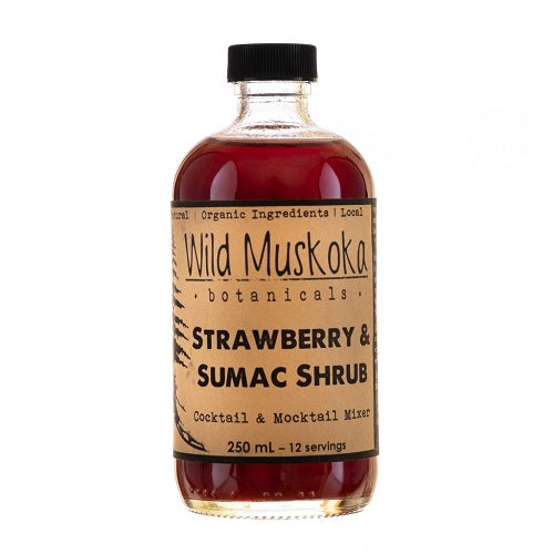 Wild Muskoka Strawberry and Sumac Shrub