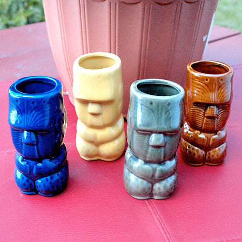 Tiki Shot Glasses, Set of 4