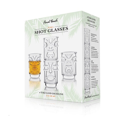 Set of 4 Tiki Shot Glasses (Clear)