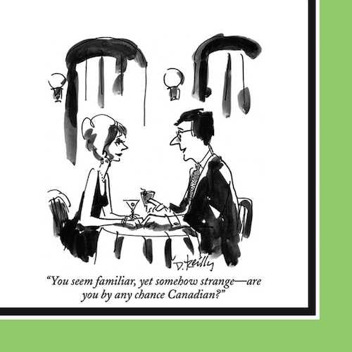 The New Yorker Cocktail Napkins: Are you by any chance Canadian?