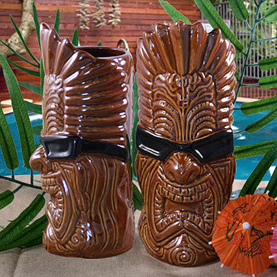 Tiki-Nator Tiki Glass
