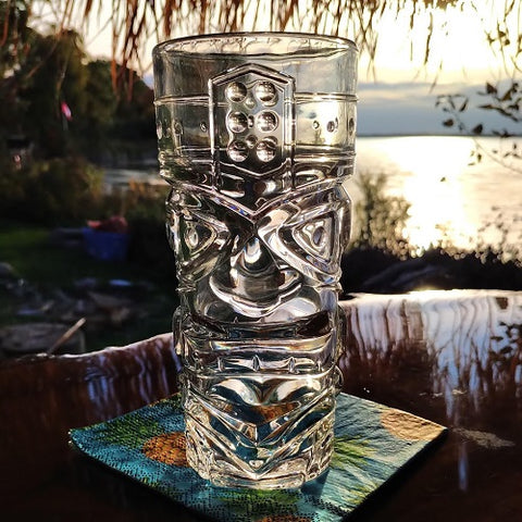 Clear Totem Tiki Glass