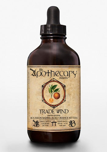 Apothecary Trade Wind Bourbon Barrel-Aged Orange Bitters, 4 oz