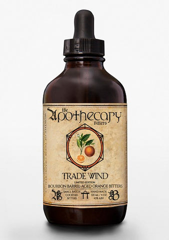 Trade Wind Bourbon Barrel-aged Orange Bitters, 4 oz