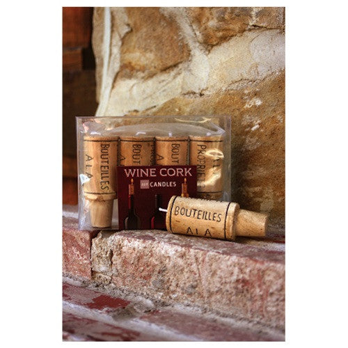 Wine Cork Shaped Candles, Set of 4