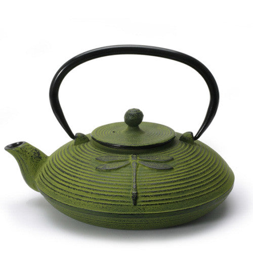 Zen Dragonfly Cast Iron Teapot