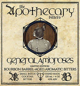 Apothecary General Ambrose's Bourbon Barrel-aged Aromatic Bitters, 4 oz