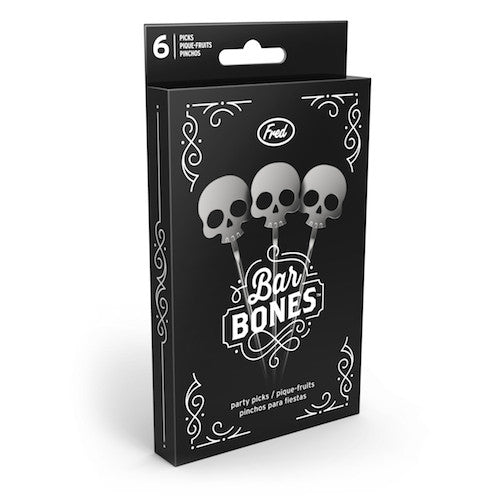 Bar Bones Skull Cocktail Picks, Set of 6