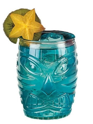 Short Clear Tiki Glass, 16 oz