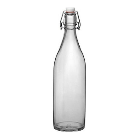 Decanter Bottle with Swing-Top Cap, Clear