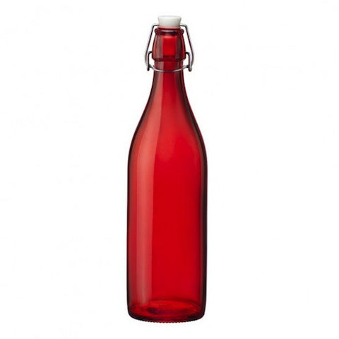 Decanter Bottle with Swing-Top Cap, Red