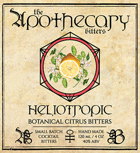 Apothecary Heliotropic Floral Citrus Bitters (Seasonal), 4 oz